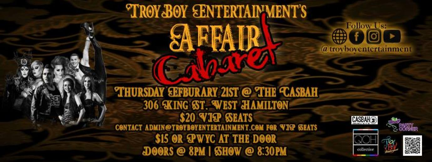 QueerEvents.ca - Hamilton event listing - Affair Cabaret