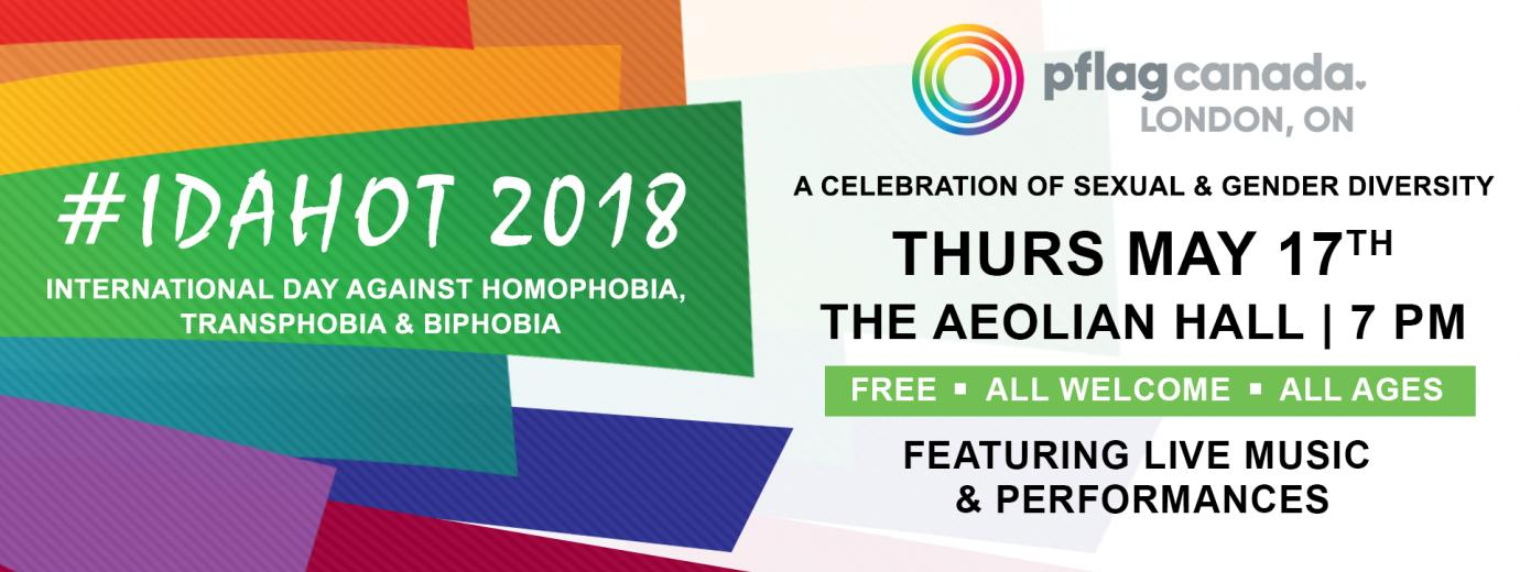 QueerEvents.ca - International Day Against Homophobia, Biphobia and Transphobia - event banner