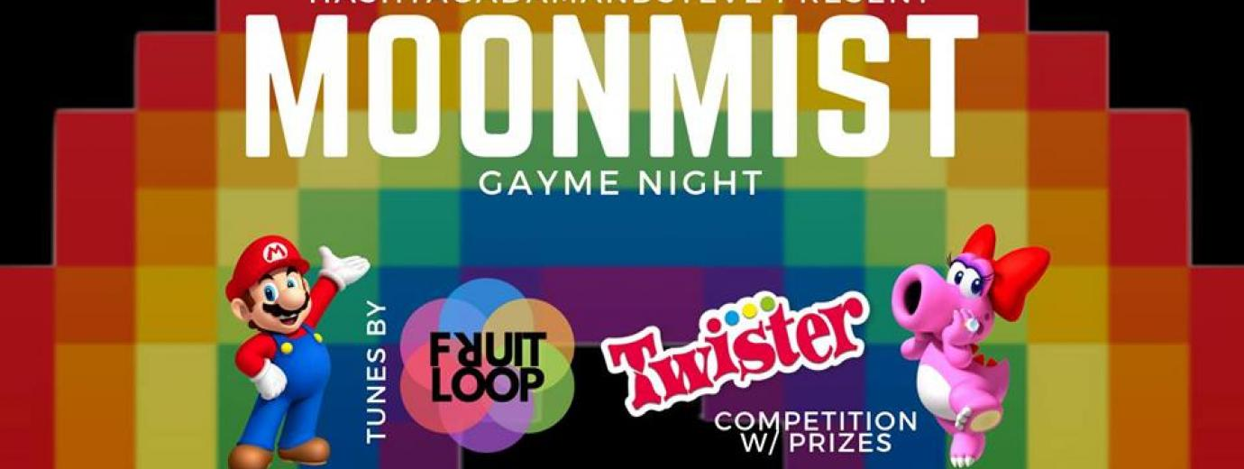 QueerEvents.ca - Hamilton event listing - Moonmist Gayme Night banner