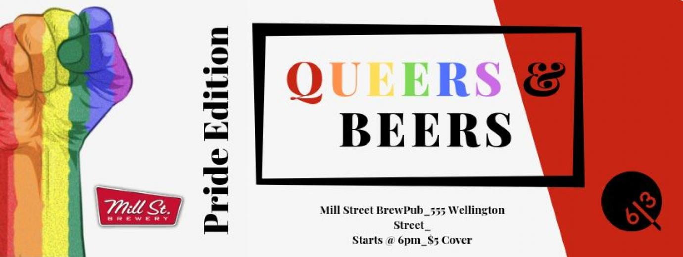 QueerEvents.ca - Ottawa event listing - Queers & Beers - Pride 2019