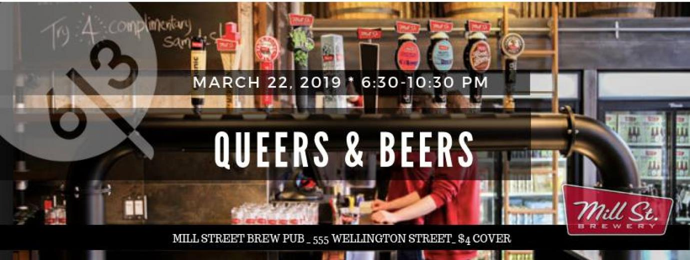 QueerEvents.ca - Ottawa event listing - Queers & Beers March 2019