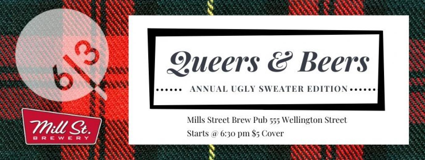 QueerEvents.ca - Ottawa event listing - Queers & Beers Annual Ugly Sweater Edition