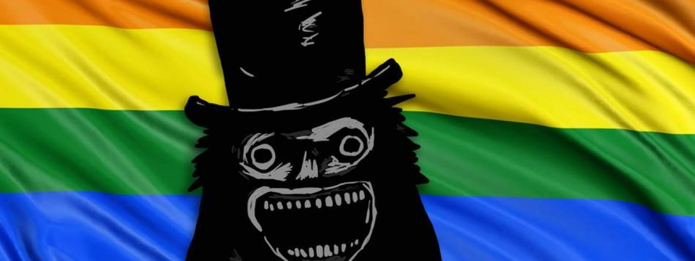 QueerEvents - Rainbow Reels the babadook event banner