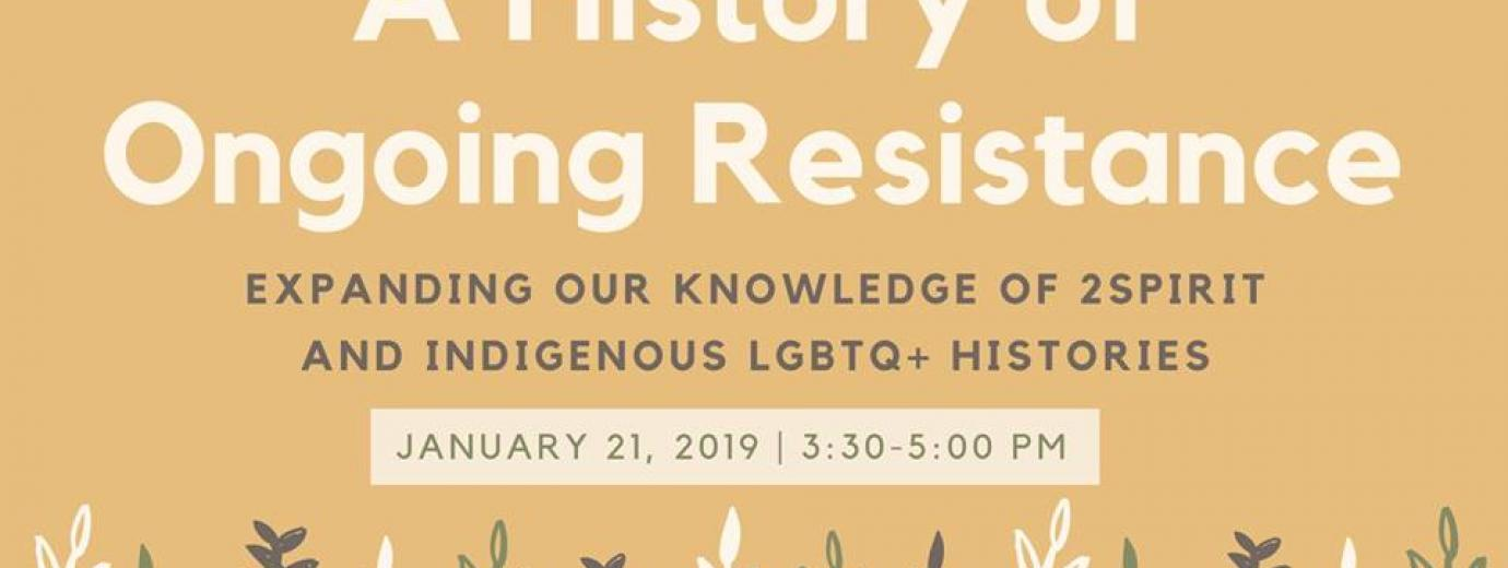 QueerEvents.ca - Toronto event listing - History of ongoing resistance event banner