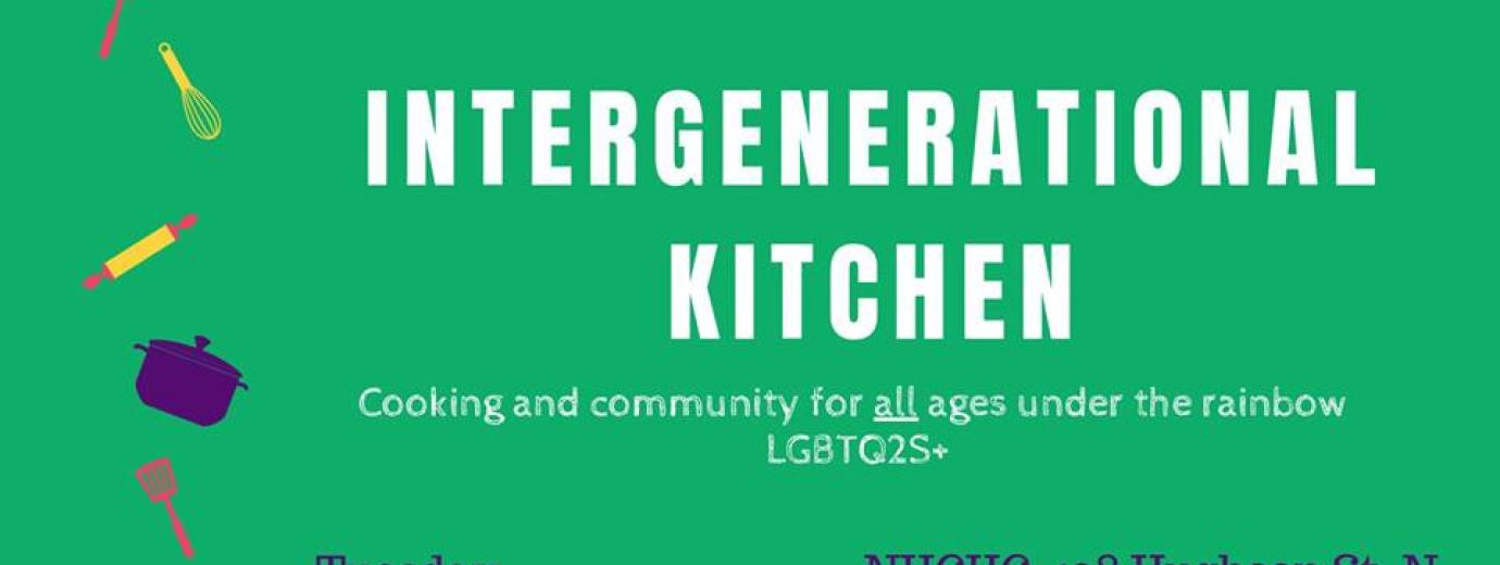 QueerEvents.ca - Hamilton event listing - Intergenerational Kitchen event banner
