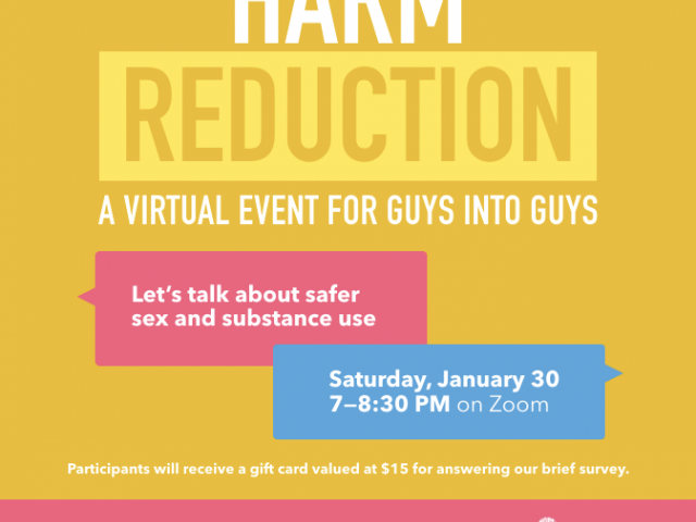 queerevents.ca - virtual event listing - harm reduction info session jan 30 2021
