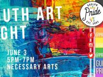 QueerEvents.ca - Guelph  pride event listing -  Youth art night