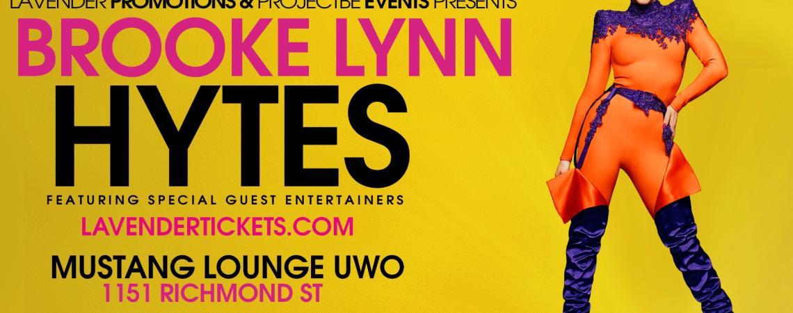 QueerEvents.ca - London event listing - Brooke Lynn Hytes Live in London - event banner