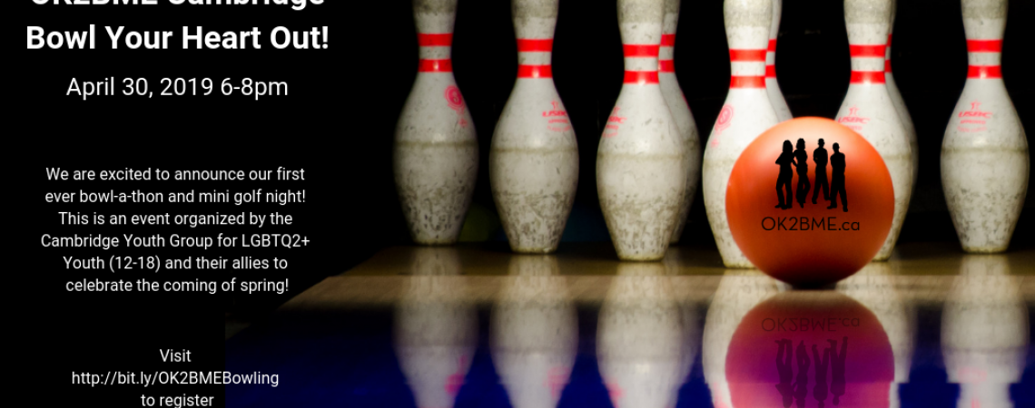 QueerEvents.ca - waterloo region event listing - Bowl your heart out banner