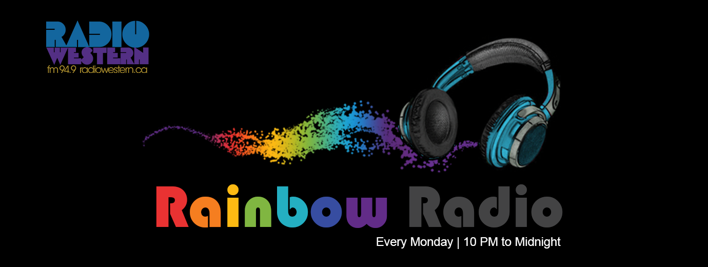 QueerEvents.ca- Rainbow Radio Banner Image