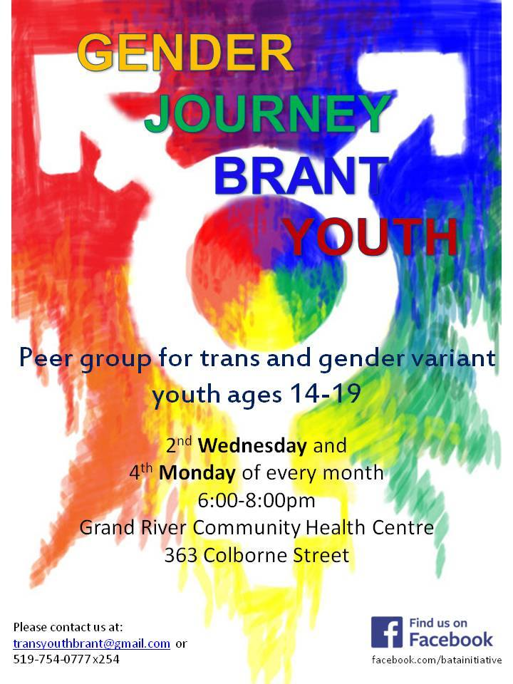 QueerEvents.ca - Brantford Gender Journey Poster