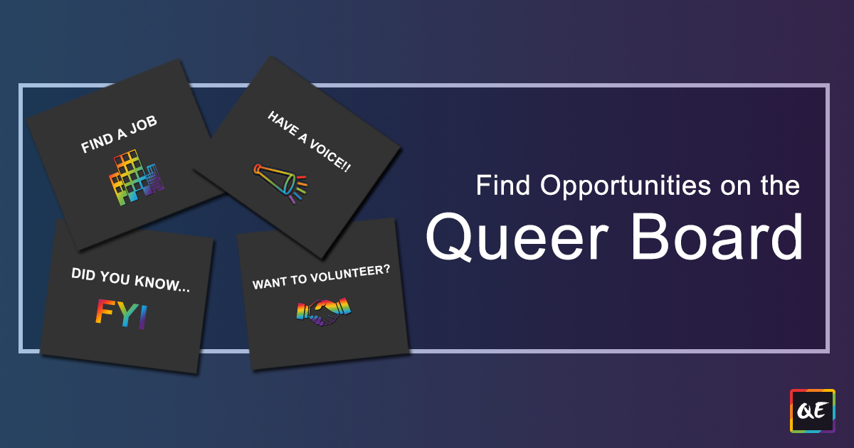 QueerEvents.ca - Find Opportunities on teh Queer Board