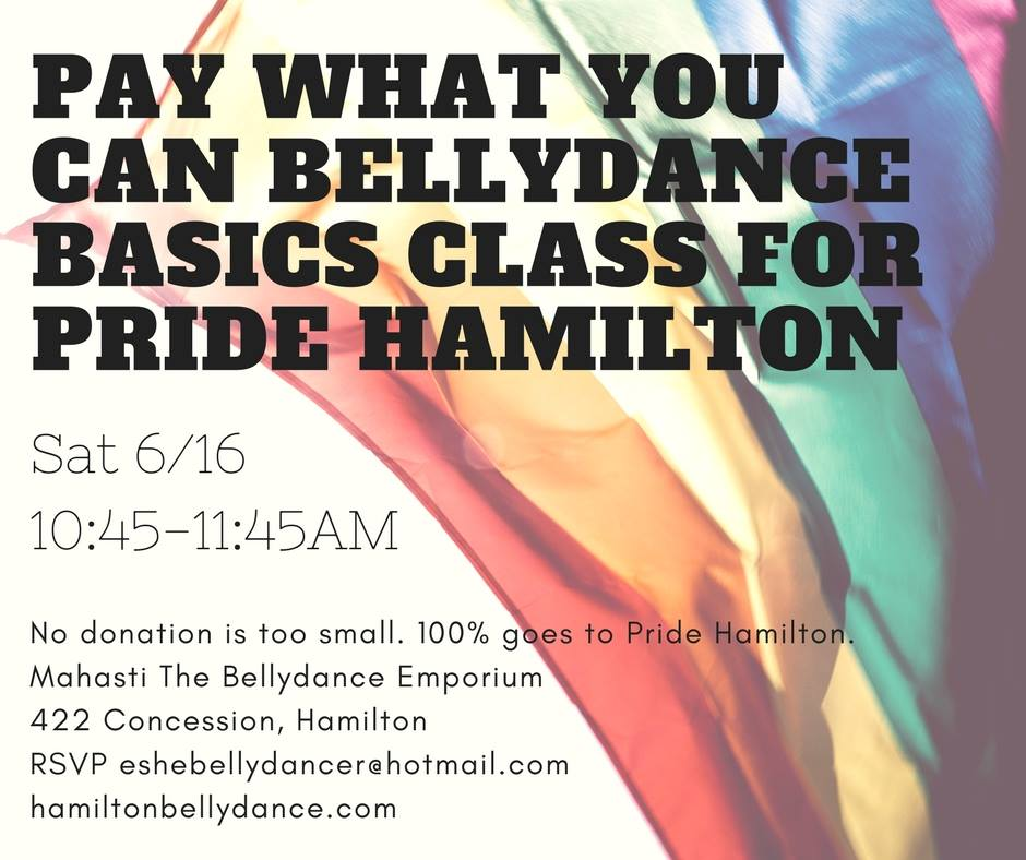 QueerEvents.ca - Bellydance basics pride hamilton edition