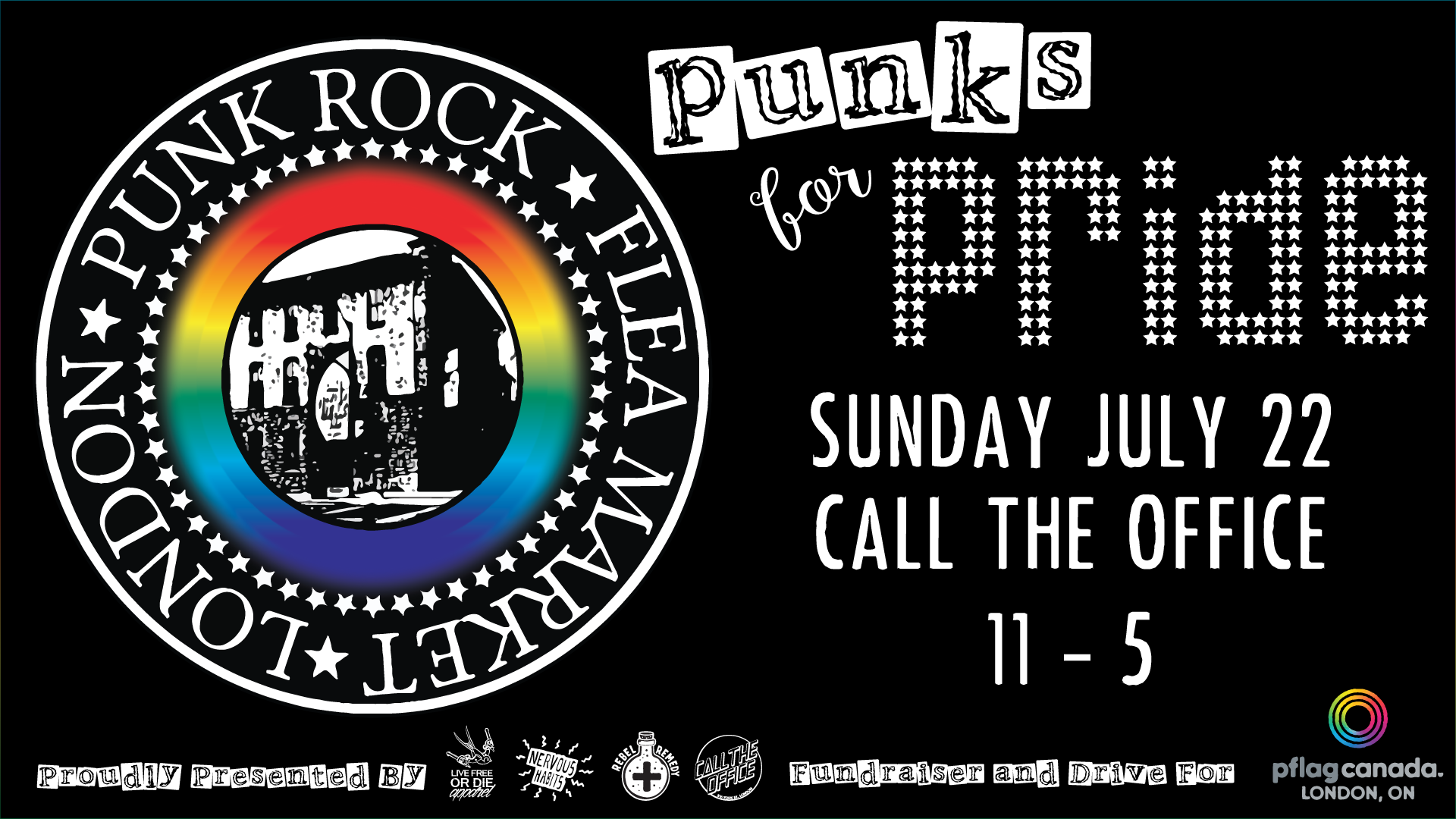 QueerEvents.ca - Punks for Pride Event listing banner