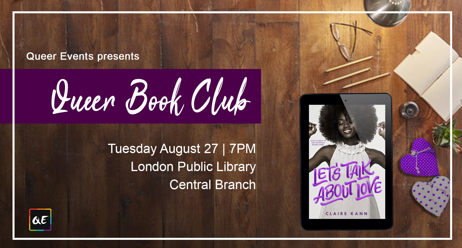 QueerEvents.ca- London Event Listing - August Queer Book Club