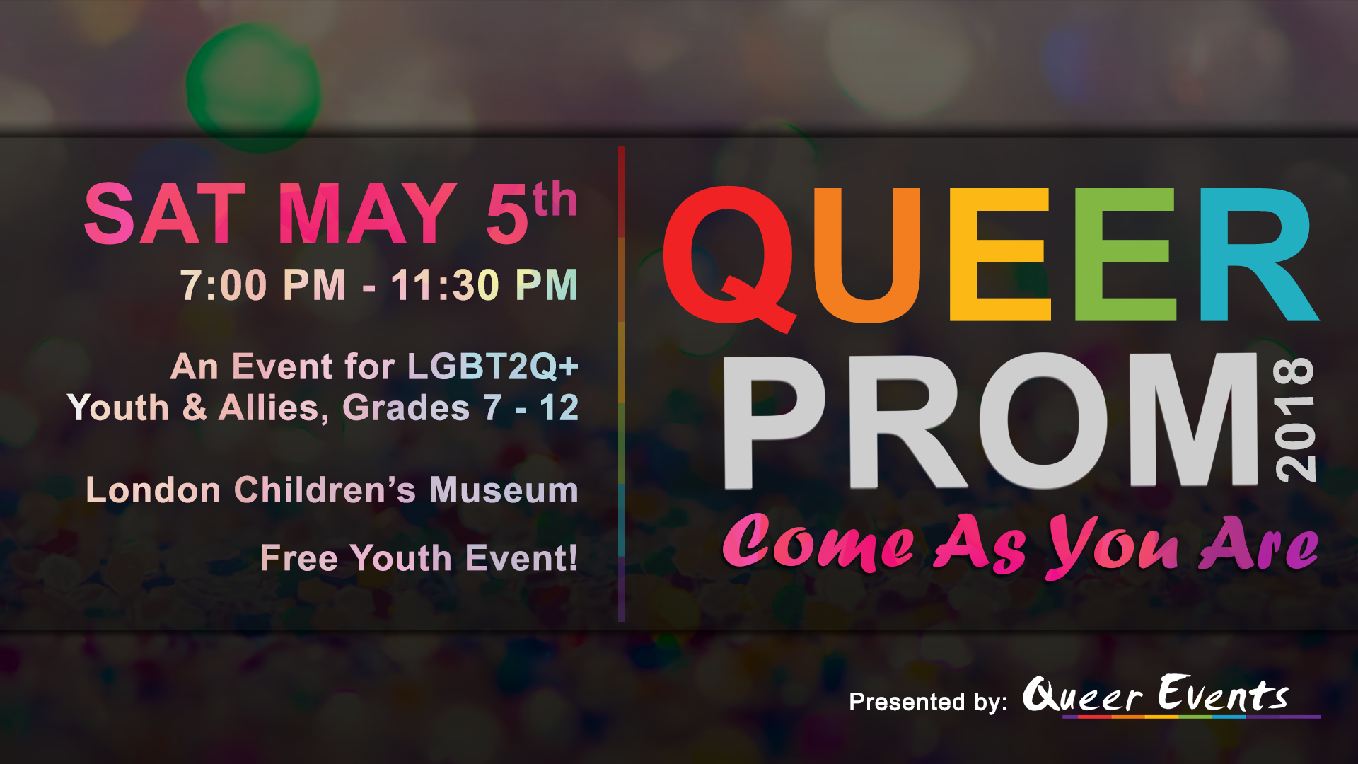 Queer Events presensts Queer Prom for Youth 2018