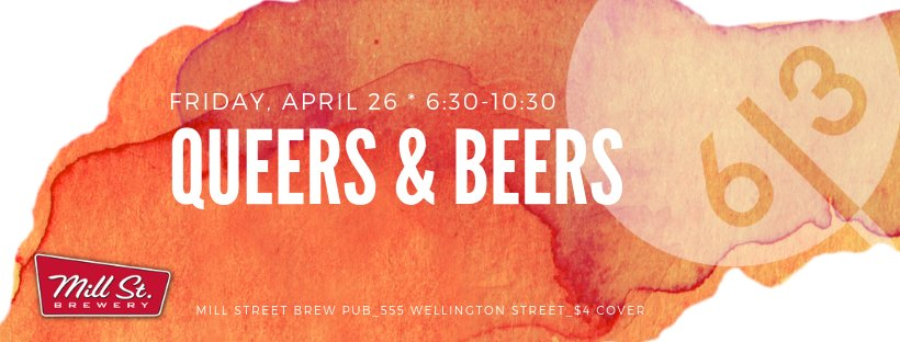 QueerEvents.ca - Ottawa event listing - Queers & Beers April 2019