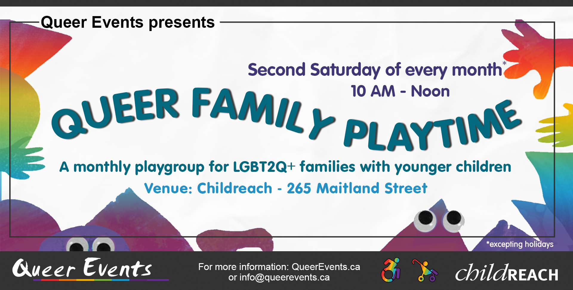 QueerEvents.ca - event listing - Queer family playtime banner