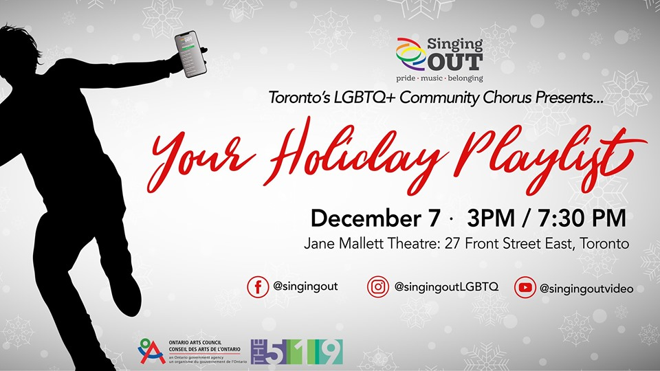 QueerEvents.ca - Toronto event listing - Your Holiday Playlist - 2019 concert event banner