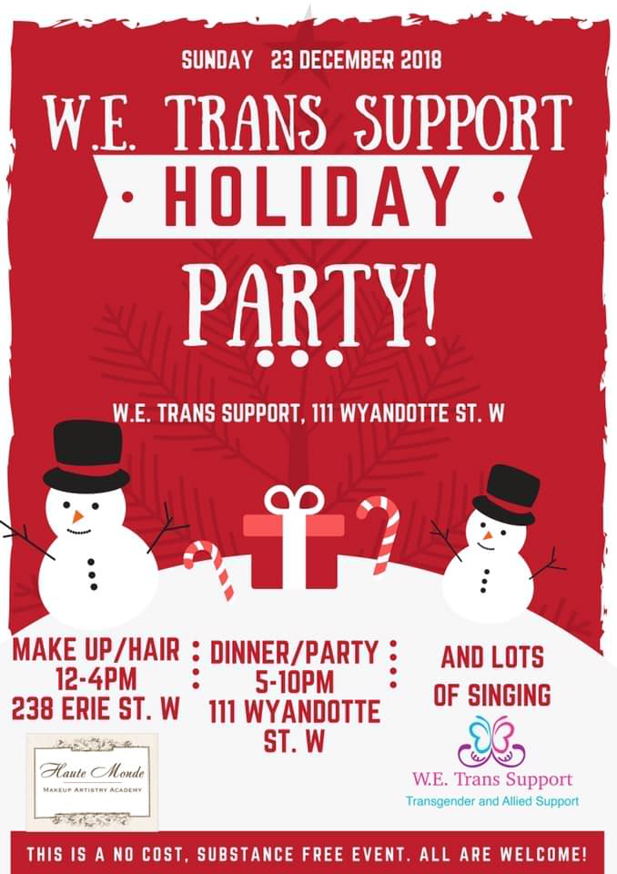 QueerEvents.ca - Windsor Event Listing - W.E. Trans Support Holiday Party