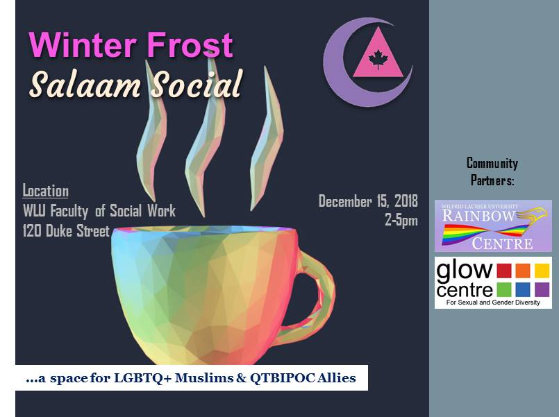QueerEvents.ca - Event Listing Poster - Winter Frost Salaam Social