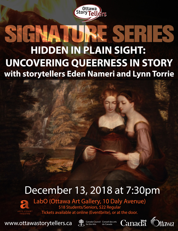 QueerEvents.ca - Ottawa Event listing - Hidden Voices Poster