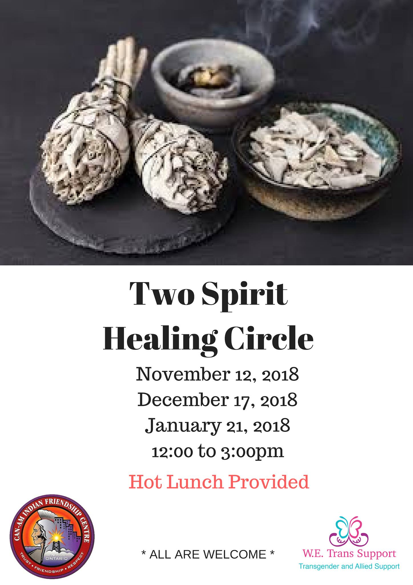 QueerEvents.ca - Windsor Event Listing - Two Spirit Healing Circle
