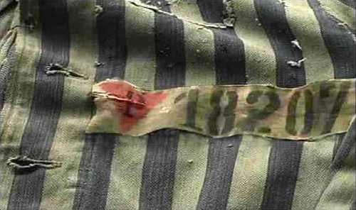 Pink Triangle on Concentration Camp Uniform
