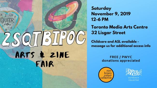 QueerEvents.ca - Toronto event listing - 2SQTBIPoC Arts & Zine Fair