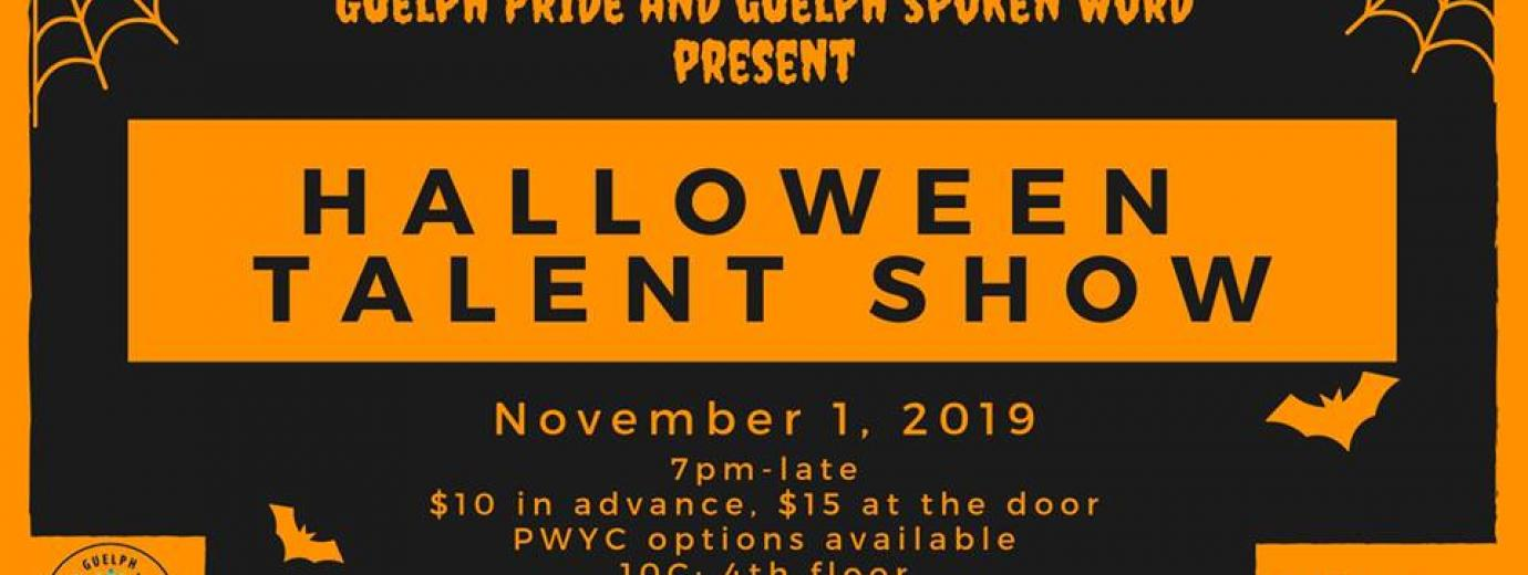 QueerEvents.ca - Guelph event listing - Halloween Talent Show