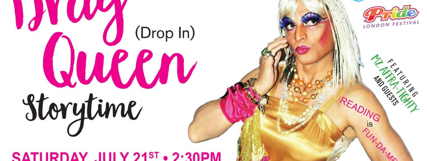 QueerEvents.ca - Drag Queen Storytime 2018 - event banner