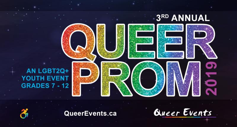 QueerEvents presents Queer Prom for Youth event banner