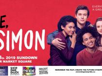 QueerEvents.ca - Kingston Pride Event - Pride Movie in the Square - Love, Simon banner